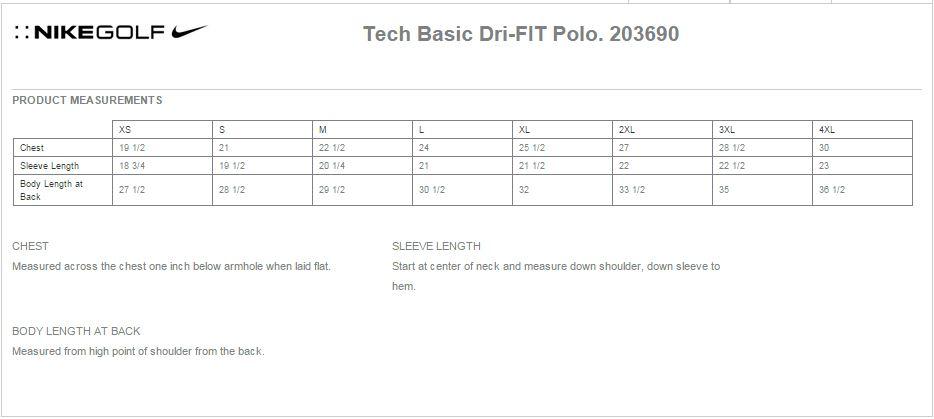 Nike Golf 203690 Tech Basic Dri Fit Polo Shirts