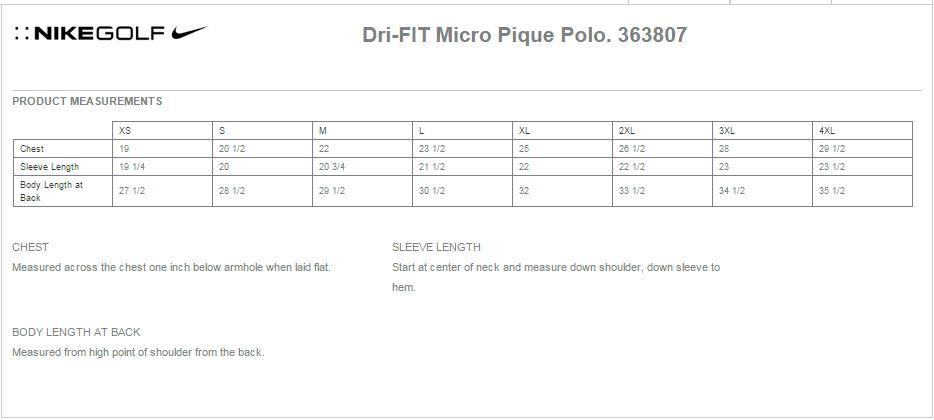 00dbad20 Nike Golf 363807 Mens Dri-Fit Micro Pique Polo Shirts