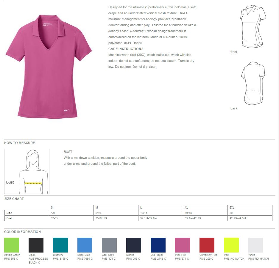 326a640c0 Nike Golf products purchased from BuyGolfShirts.com must be sold only with  embellishment, excluding samples.