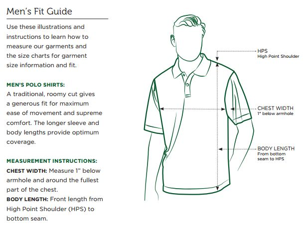 Callaway Men's Fit Guide