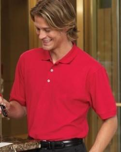 Harriton Men's Short Sleeve Pique Polo Shirts M100